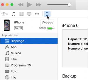 sincronizzare iphone con pc