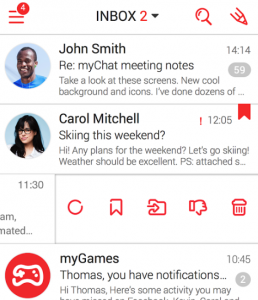 gestire mail con android